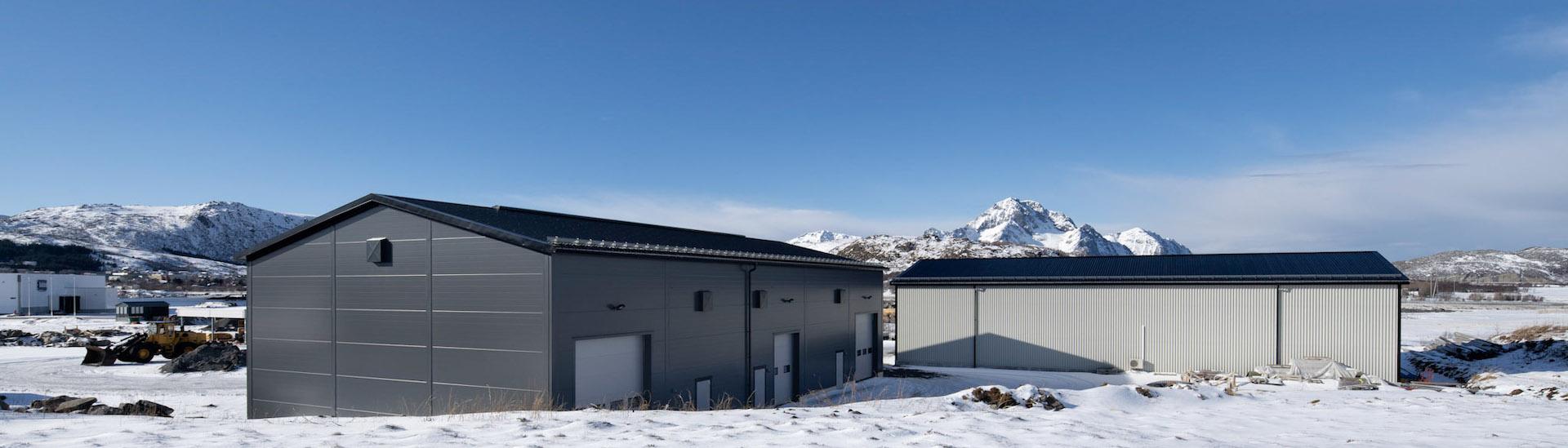 Stålbygg som lagerbygg og logistikkbygg for Sjøhaug bygg